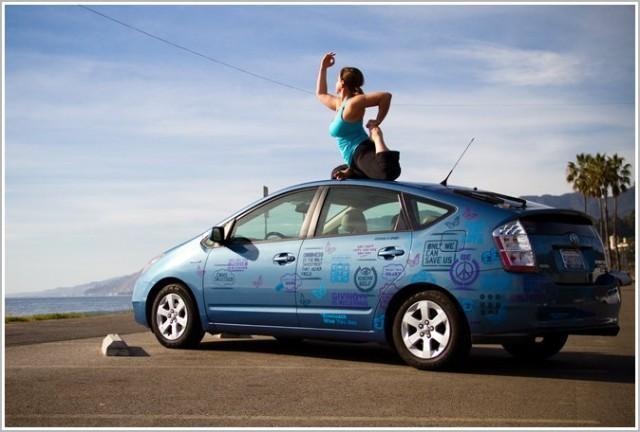 Yoga in macchina