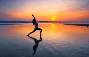 Yoga spiaggia - Saluto al Sole