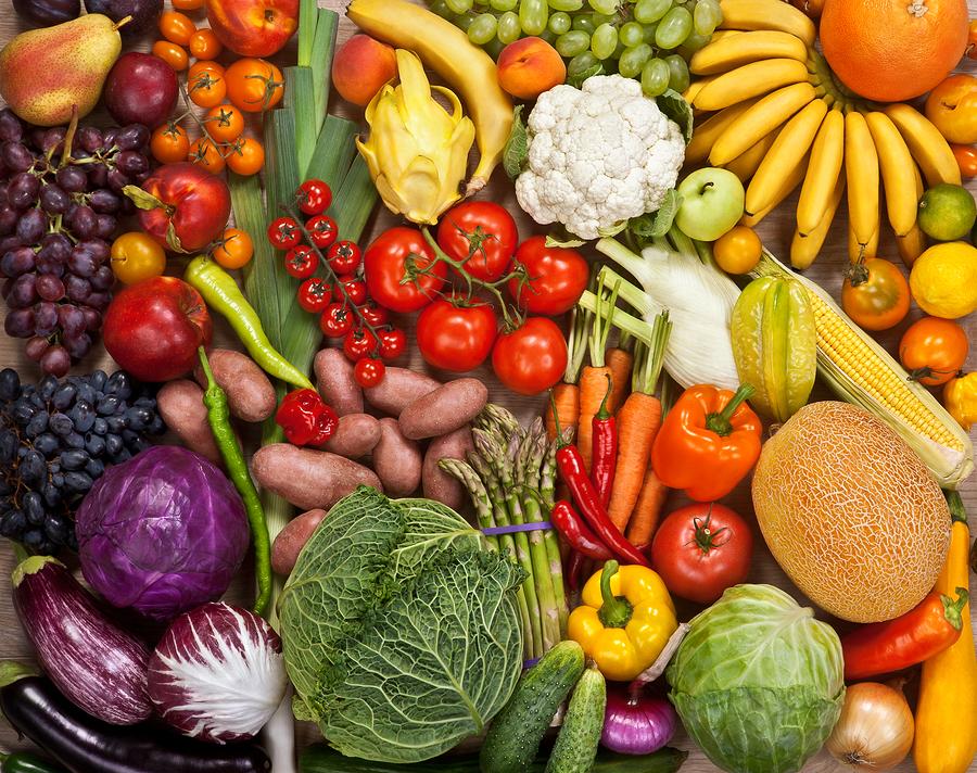 verdura colorata per stare in forma